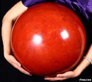 "Titan 17.3"" Red Jasper Sphere, Crystal Ball"