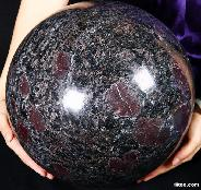 "Titan 13.2"" Russian Astrophylite Sphere, Crystal Ball"