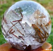 "Titan 7.2"" Tourmaline Quartz Sphere, Crystal Ball"