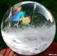 "Titan 6.9"" Quartz Rock Crystal Sphere, Crystal Ball, rainbows"