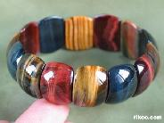 Tiger Eye Carved Crystal Bracelet  border=
