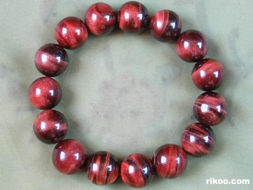 Red Tiger Eye Crystal Bracelet