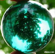 Green Obsidian Sphere, Crystal Ball  border=