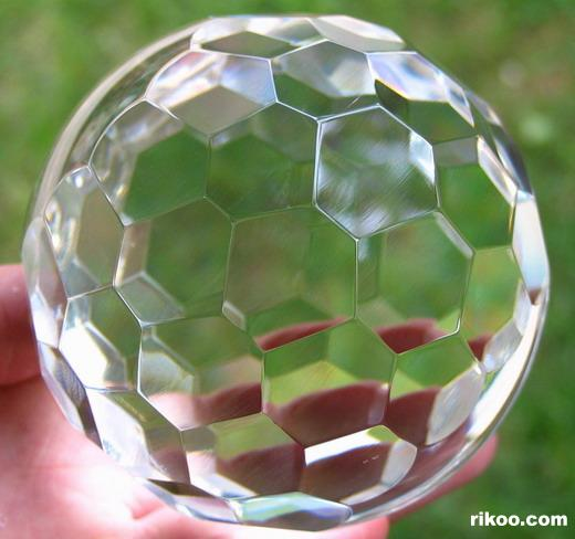 Faceted Glass Crystal Ball