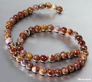 "length 15.4"" Pietersite Carved Beads String"
