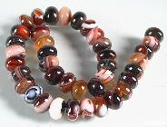 "length 14.3"" Banded Agate Carved Beads String"