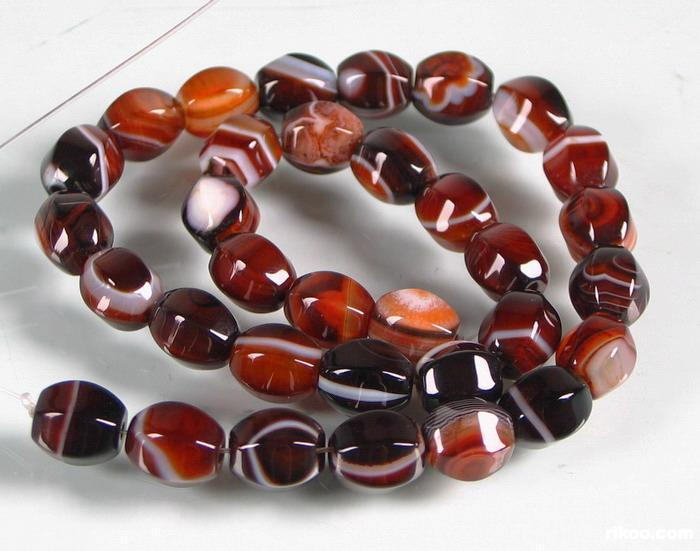 Banded Agate Beads String