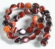 "length 15.4"" Banded Agate Carved Beads String"
