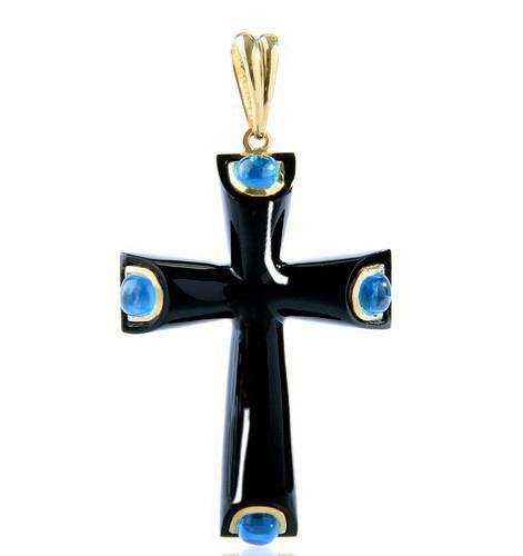 Black Onyx Cross Pendant
