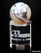 Quartz Rock Crystal Carved Crystal Ball stand  border=