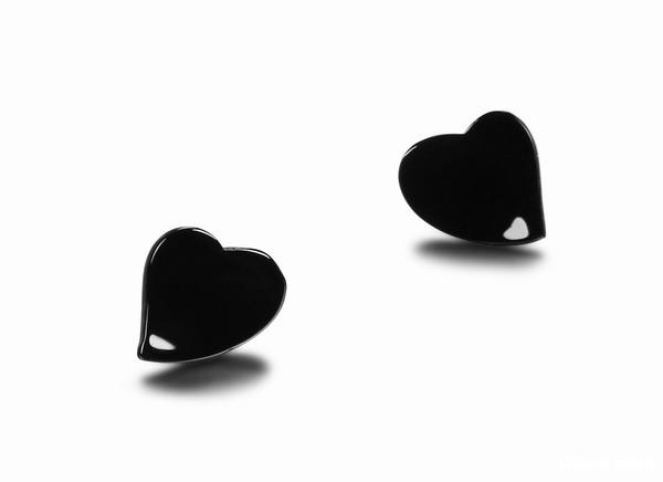 Black Onyx Heart Crystal Earring