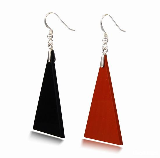 Red Jasper & Black Obsidian Crystal Earrings