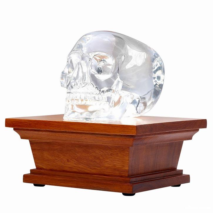 Rosewood LED White Light Display Stand, Crystal Lamp Wooden Base for Gemstone Crystal Stone Sculpture & Mineral Specimen