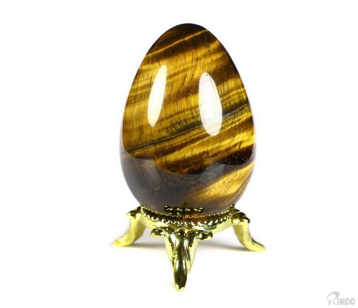 Gold Tiger Eye Crystal Egg