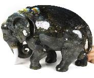 "Awesome 13.2"" Labradorite Crystal Elephant, Crystal Healing"