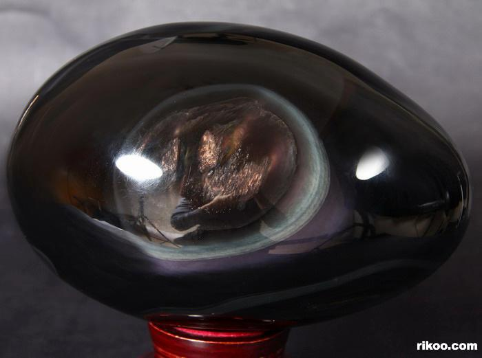 Rainbow Obsidian Crystal Egg
