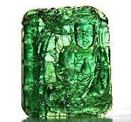 AMAZING Verdelite/Green Tourmaline Carved Crystal Kwan-yin Pendant