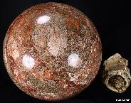 "Titain 15.7"" Leopard Skin Jasper Sphere, Crystal Ball"