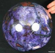 "STUNNING 7.0"" Sugilite Sphere, Crystal Ball,Gemstone"