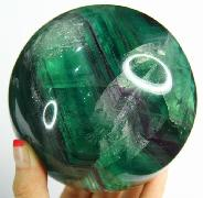"Nice Gemstone Huge 4.2"" Fluorite Sphere, Crystal Ball"