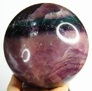 Nice Huge 4.7 Fluorite Sphere, Crystal Ball