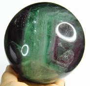 "Nice Huge 4.7"" Fluorite Sphere, Crystal Ball"