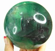 "Nice Gemstone Huge 3.9"" Fluorite Sphere, Crystal Ball"