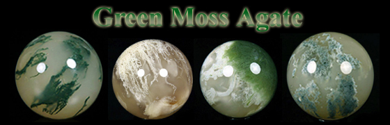 Rikoo Presents Green Moss Agate Crystal Spheres