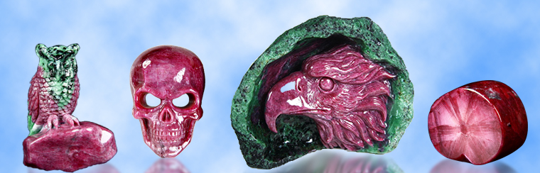 Awesome Gemstone Ruby Sculptures